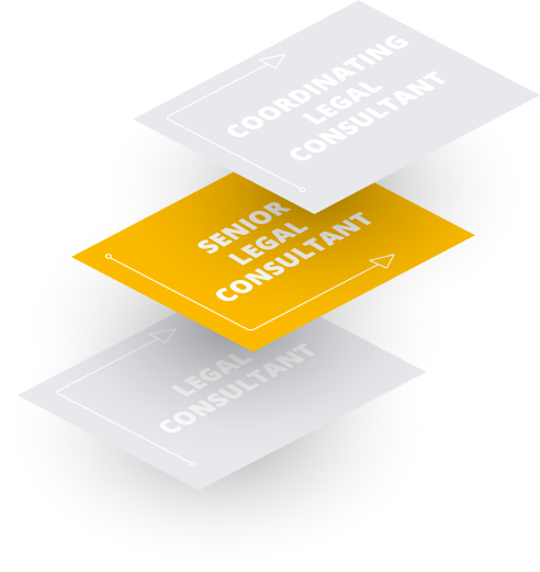 Senior Legal Consultant (4. – 6. Jahr): Wir schätzen Ihre fachliche Expertise und ernennen Sie in der Regel nach drei Jahren zum Senior Legal Consultant. Mit den Weiterbildungsangeboten der CMS Academy unterstützen wir Ihre individuelle Entwicklung.