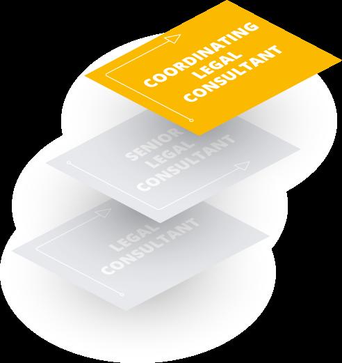 Coordinating Legal Consultant (nach 6 Jahren): Nach sechs Jahren besteht die Möglichkeit, Coordinating Legal Consultant zu werden.